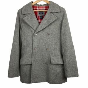 Abercrombie and Fitch gray pea coat medium